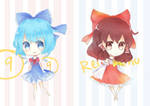 Touhou mini Cirno and Reimu
