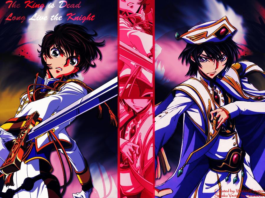 Emperor Lelouch and Suzaku by EdgeofTomorrow on DeviantArt