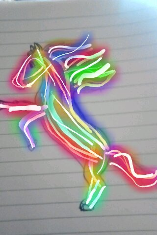Neon Horse by angelmarilena on DeviantArt