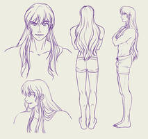 Arran Hair Down Reference