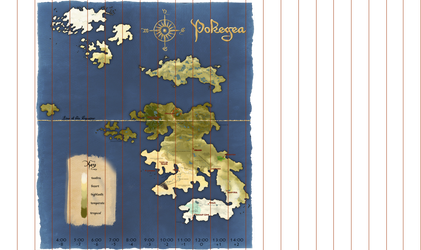 Pokegea Time Zones reference map