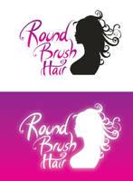 RoundBrushHair logo concept by naranch