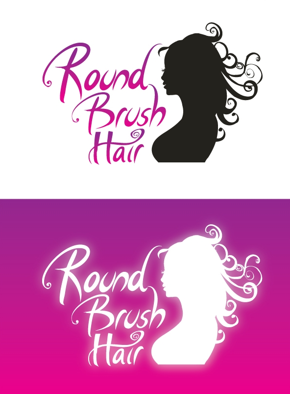 RoundBrushHair logo concept
