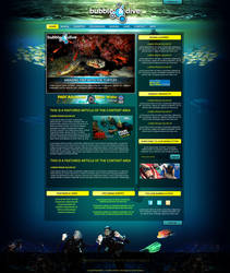 Bubble n dive webdesign