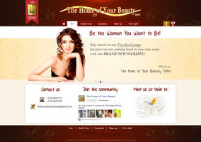 Home of your beauty webdesign concept
