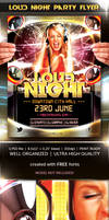 Loud Night party flyer template