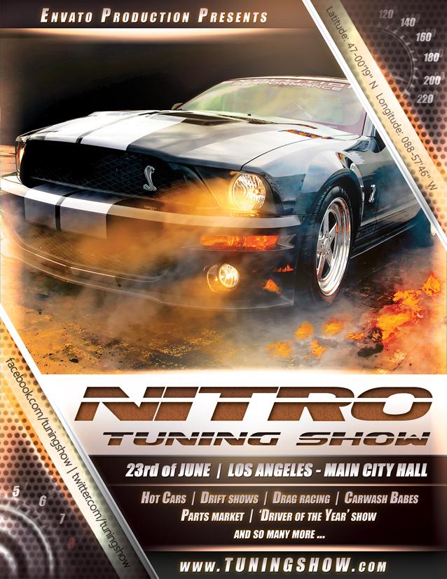 Nitro Tuning Show flyer version 2 by naranch