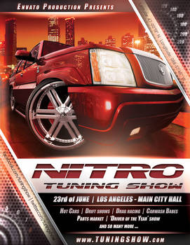 Nitro Tuning Show flyer version 3 PSD