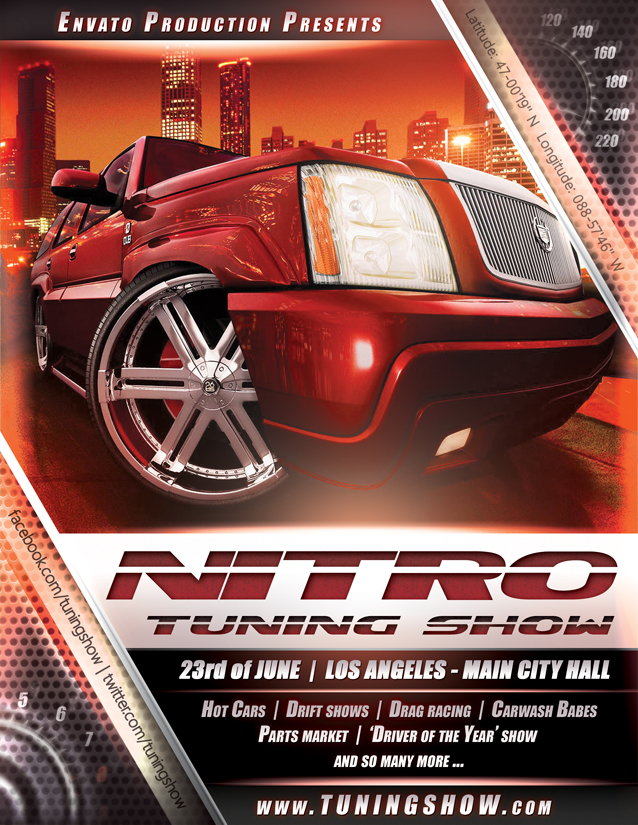 Nitro Tuning Show flyer version 3 PSD