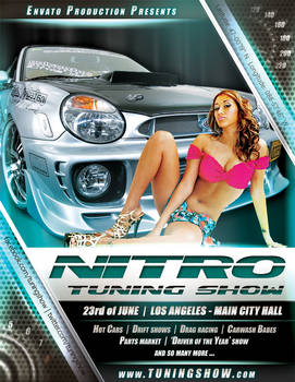 Nitro Tuning Show flyer version 4 PSD