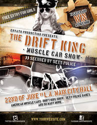 Muscle car show flyer template