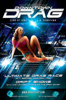 Downtown Drag flyer template