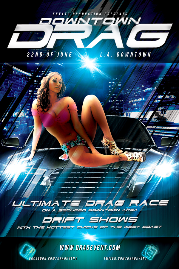 Downtown Drag flyer template by naranch