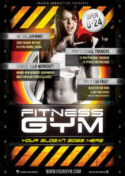 Fitness Gym flyer template by naranch