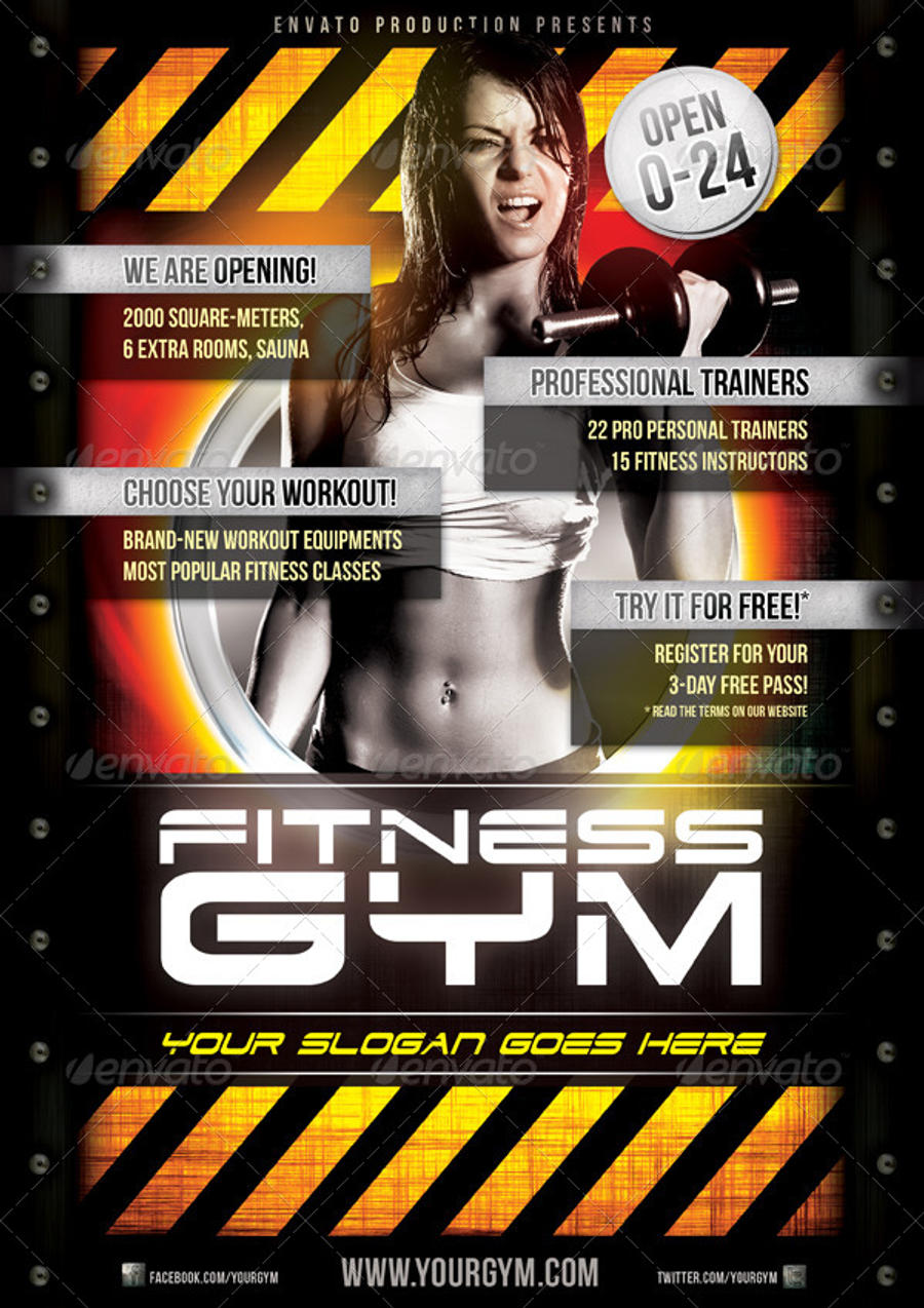 Fitness Gym Flyer Template By Naranch Fitness Gym Flyer Template By Naranch
