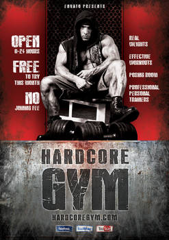 Hardcore Gym flyer template