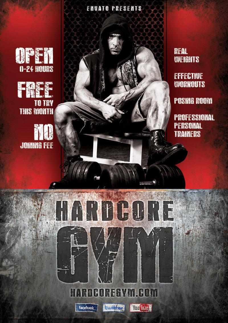 Hardcore Gym flyer template