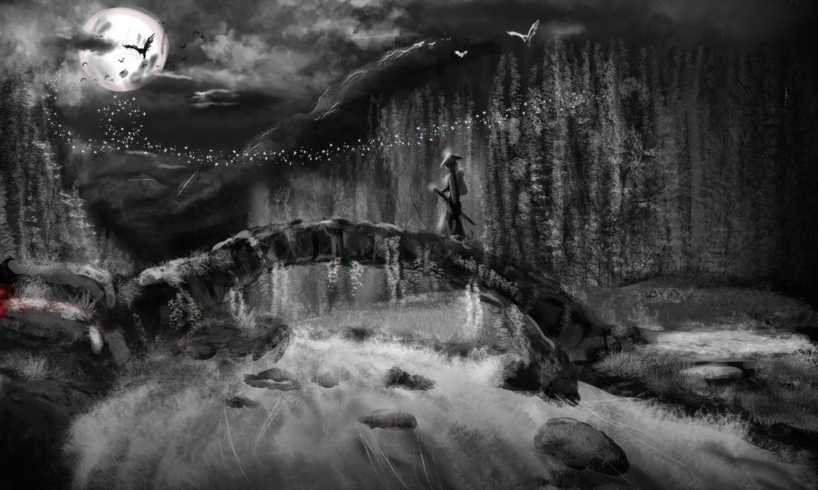 night in the samurai land by SinoStefan