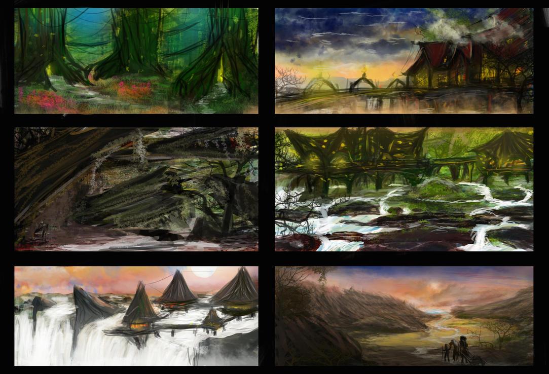 Enviromental thumbnails by SinoStefan