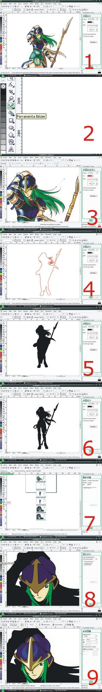 Corel Draw vectorization tutor by Aya-senpai