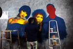 GreenRoom Mural WIP
