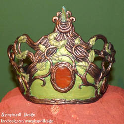 Forest fairy crown with gemstones Wicca
