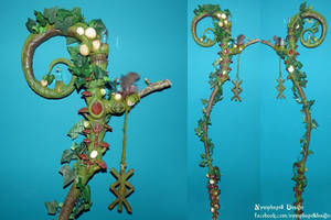 Woodland forest fairy nymph magic witch wand pagan
