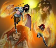 Fire Fight by Detonya-KAN
