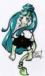 Shy Demon Girl by Detonya-KAN