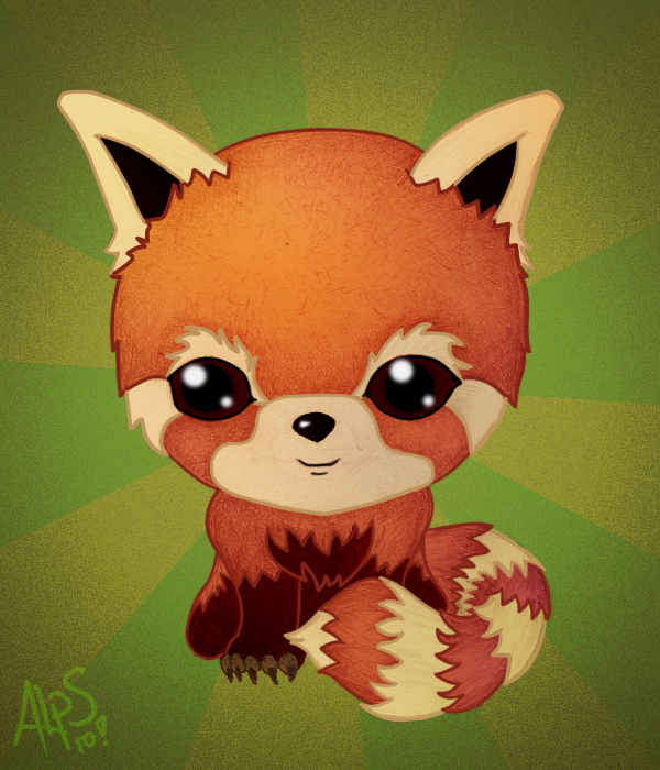 Chibi red panda - photo#12