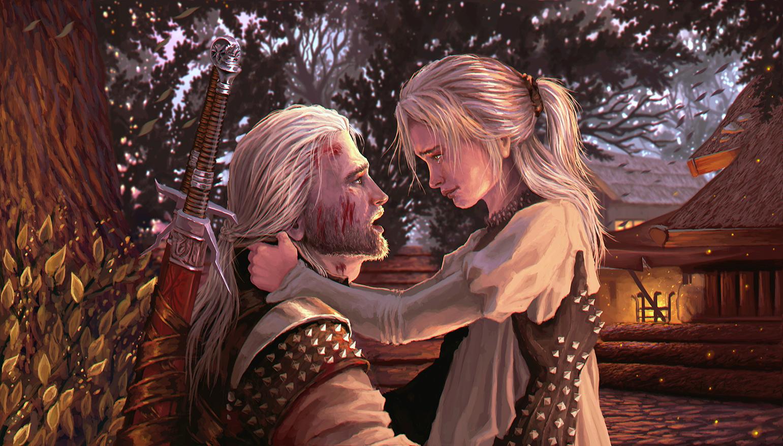 Ciri et Geralt