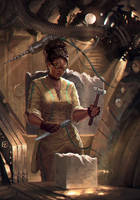 Princess of Pentacles by cyberaeon