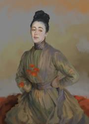 Miss Priestley by John Singer Sargent - study