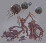 Brethren Moons  and Necromorphs sketches