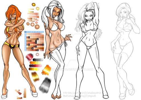 WIP_CarlosGomezArtist_4 SexyGirls_LA_color by DX81