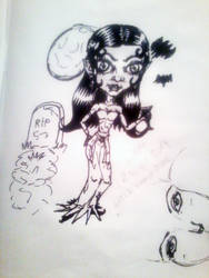 chibi-Little Vamp girl sketch