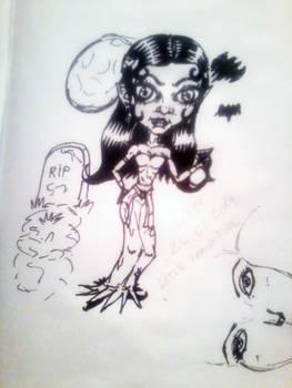 chibi-Little Vamp girl sketch