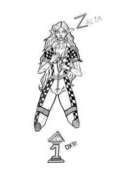 Zalia OC lineart_Character contest