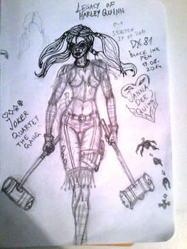 WIP_OC Sketch Janna Dee Quinn JQTG by dragonx81