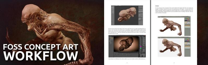 FOSS concept art workflow