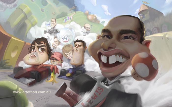 Formula 1 vs Mario Kart by NoriTominaga