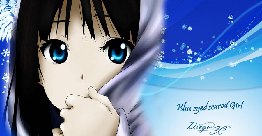 Blue eyed scared Girl by diegocamara on DeviantArt