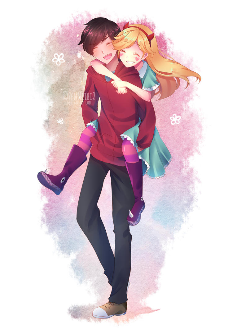Commission] Star Butterfly and Marco Diaz by ZenNiibi2 on DeviantArt