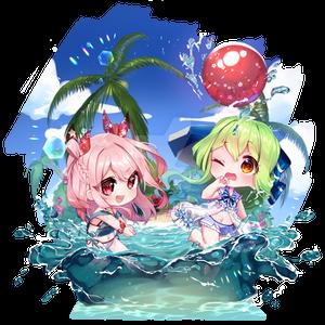 [OC] Splashing Summer - Akane and Hime