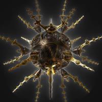 Black mandelbulb by Theli-at