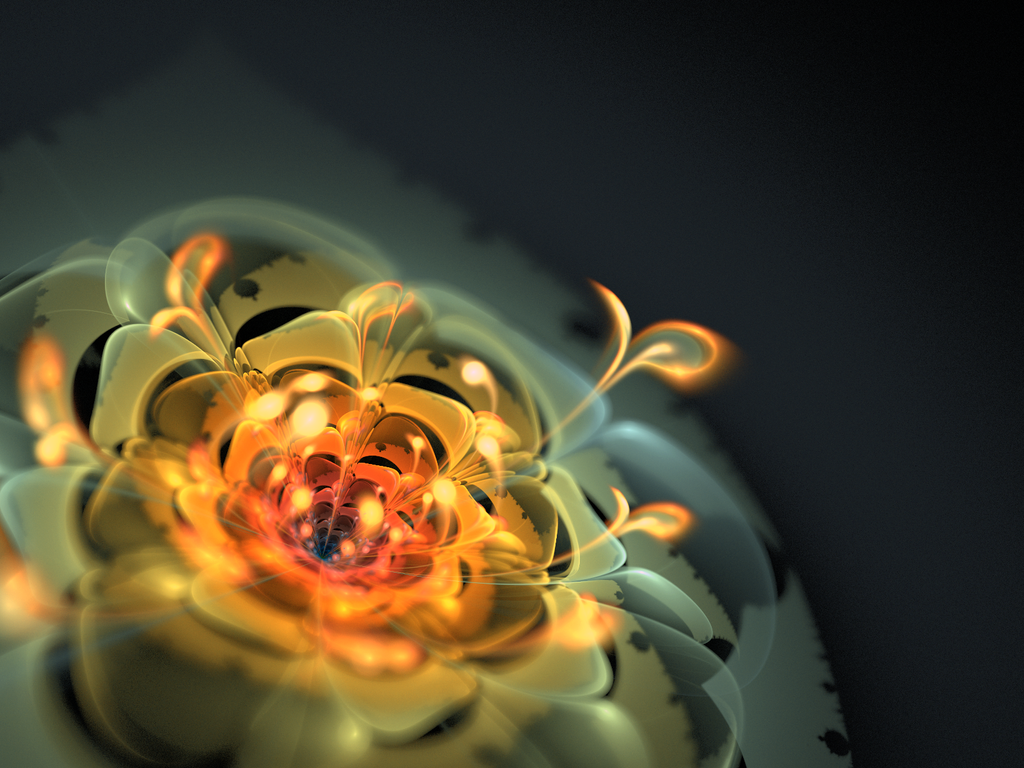 Glass Flower By Theli At