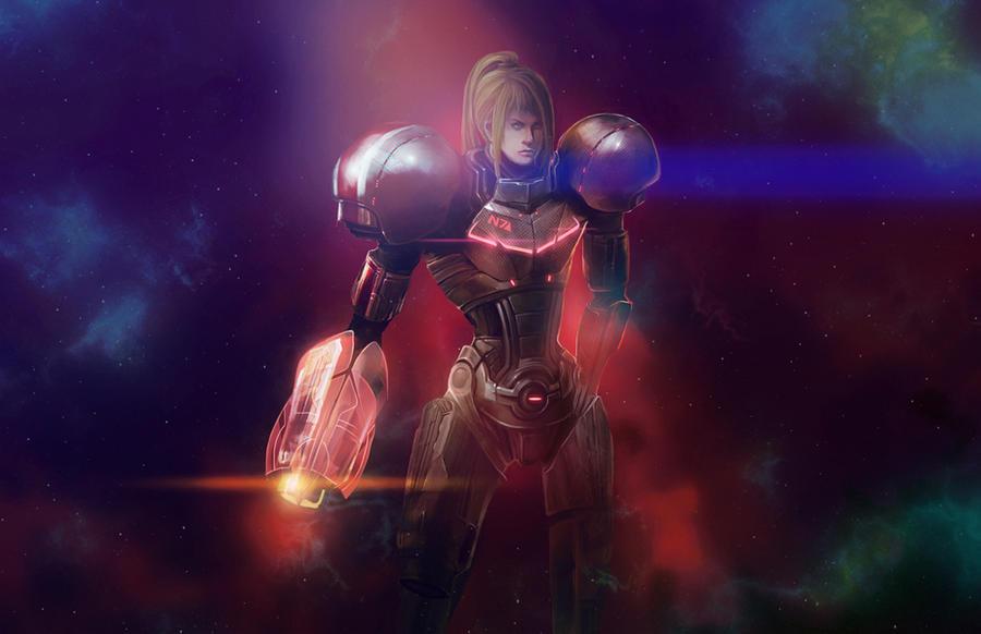 Commander Samus Aran (ME/Metroid Crossover) by aelice