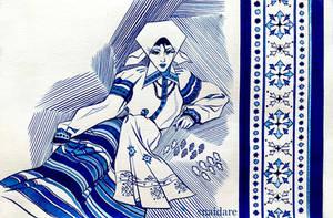 Belorussian patterns of XX century in ink