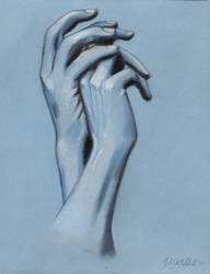 Hand Study in Blue