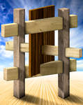 Impossible wood construction